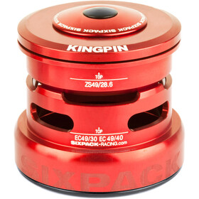 Sixpack Kingpin 2In1 Balhoofdlager ZS49/28.6 I EC49/30 and ZS49/28.6 I EC49/40, red